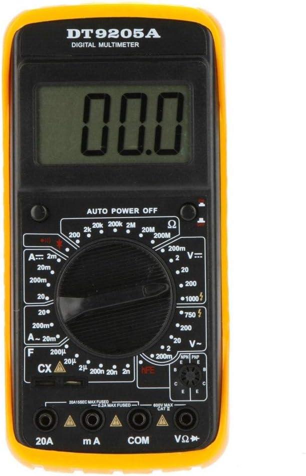 Digital Multimeter AC DC Voltmeter Ammeter Ohmmeter Volt Tester Meter DT9205A