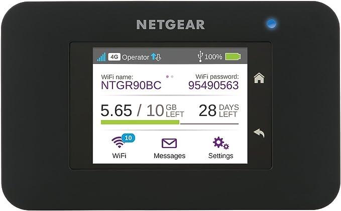 Netgear AC790 Router 4 G con Sim, WiFi portatil Velocidad N300 y hasta 10 Dispositivos, 11 h de batería