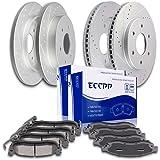 Brake Kit,ECCPP High Performance Slotted Drilled Brake Rotors Discs and Advantage Ceramic Pads Replacement Part Brake Part for Nissan Armada,Nissan Titan,Infiniti QX56