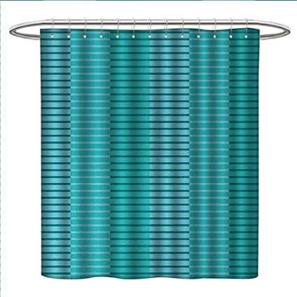 Anniutwo Abstract Shower Curtains Fabric Extra Long Stripes Pattern Digital Image In Print Bathroom Set