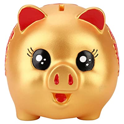 Banco de cerdos en forma de cerdo Hucha Material de silicona Caja de monedas Caja Trabajo hecho a mano para regalos: Hogar