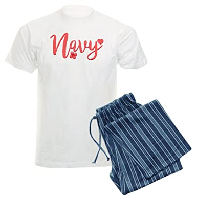 c1b968b5 Image Unavailable. Image not available for. Color: CafePress - Navy Girly  Text Pajamas - Unisex Novelty Cotton ...