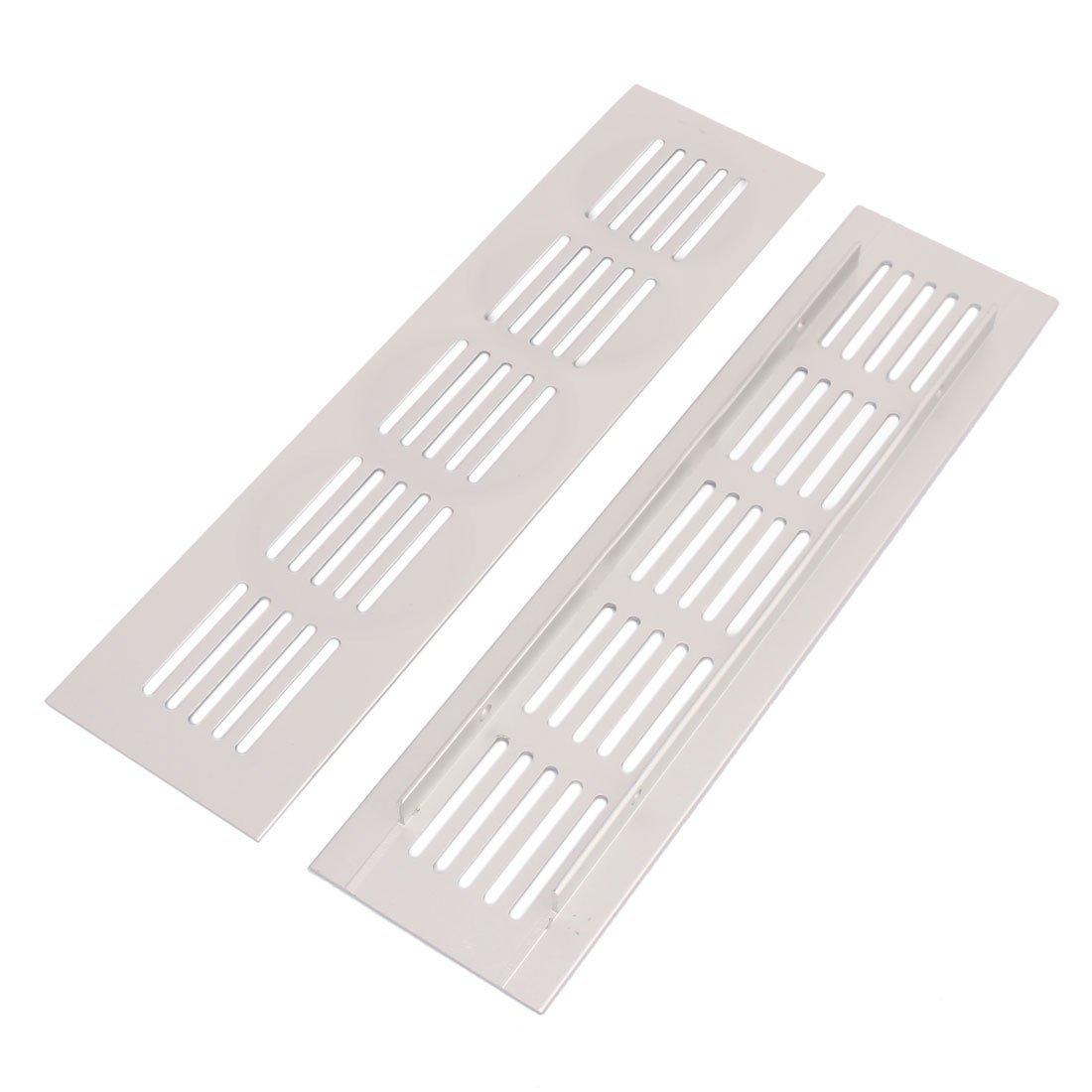 eDealMax Armario gabinete 200mmx50mmx9mm aleación de aluminio Salida de aire Rejilla de ventilación 10pcs - - Amazon.com