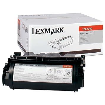 Lexmark 12A7360 - Cartucho de tóner para Impresora láser y fax ...