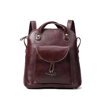 wie man serch größte Auswahl von 2019 Shop für Beamte Damen Retro Leder Vintage Rucksack Tasche 2 in 1 ...