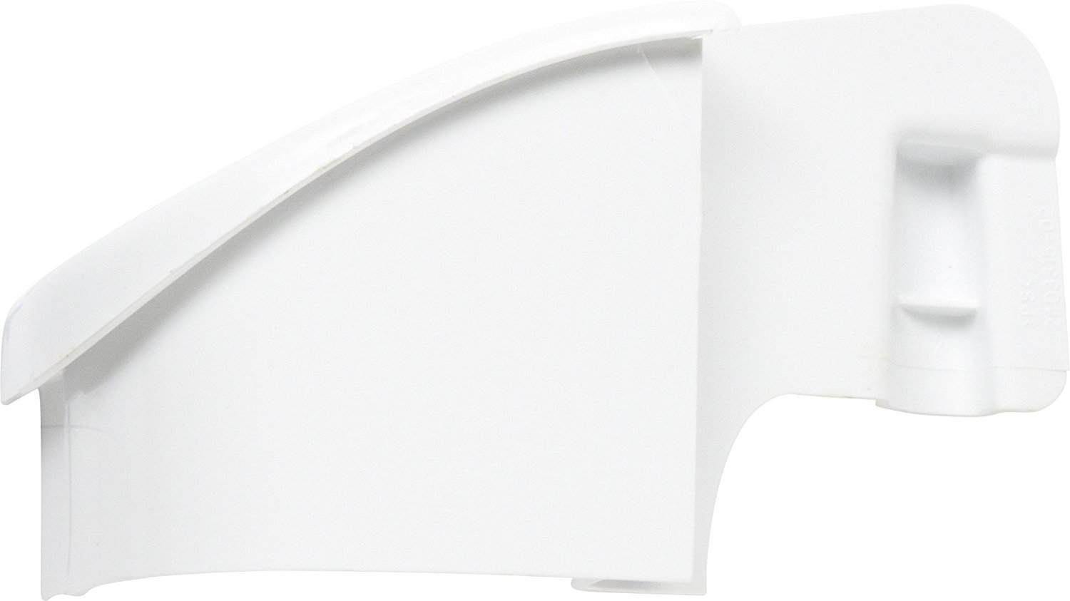 240331502 Refrigerator Door Shelf End Cap, Right Hand, White Replacement For Frigidaire,Electrolux,Kelvinator, White-Westinghouser
