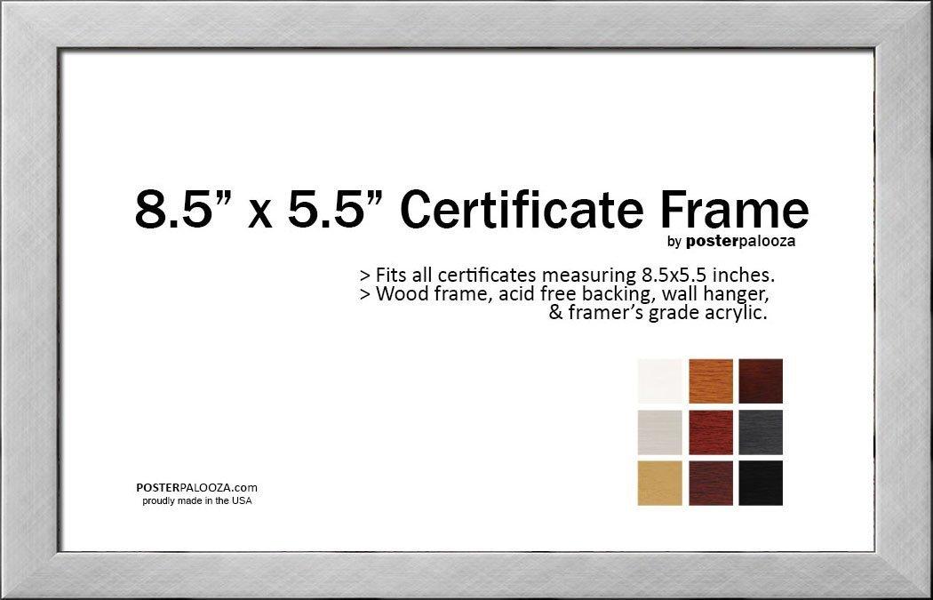 Amazoncom 85 X 55 Certificate Frame Wood Frame Holds Any
