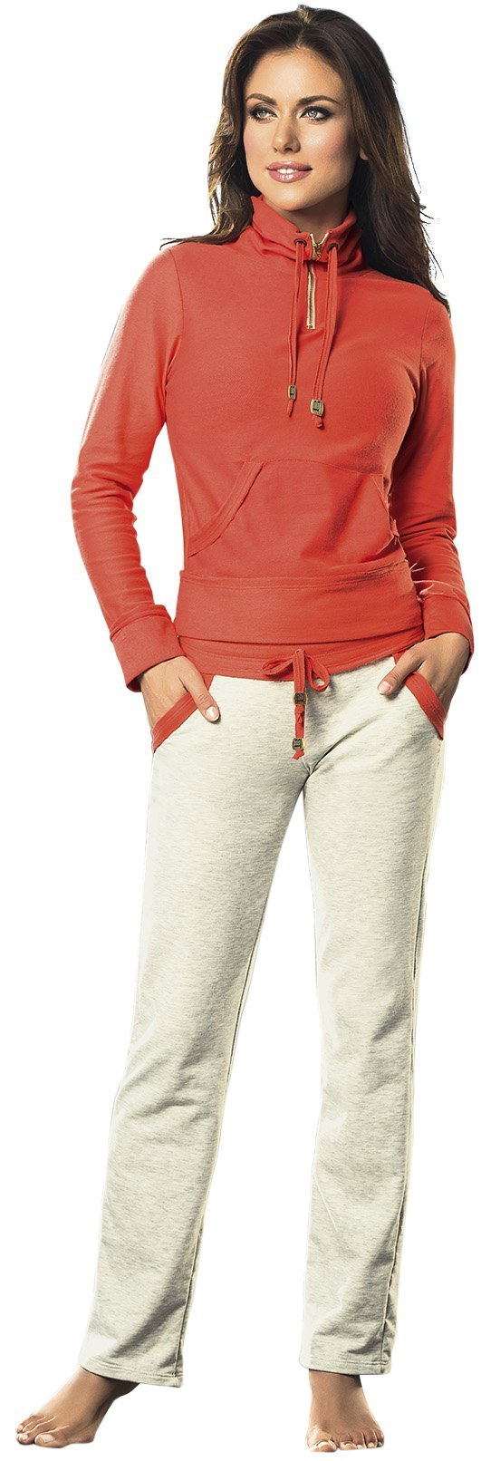 Adriana Arango 3 Piece Women's Gym Outfit Set Long Sleeve Jacket Top Pants S 169 by Adriana Arango