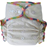 Heavy Wetter Baby Night Fitted Cloth Diaper with 2 Inserts, One Size 10-30 Lb, Hemp /Organic Cotton, 1-pack