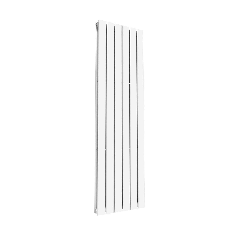 1600 x 452 mm Chrome Vertical Column Radiator Single Flat Panel Designer Bathroom Radiator