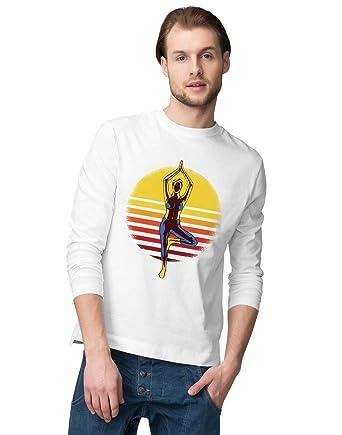 BLAK TEE Hombre Sunset Yoga and Meditation Pose Camisa De ...