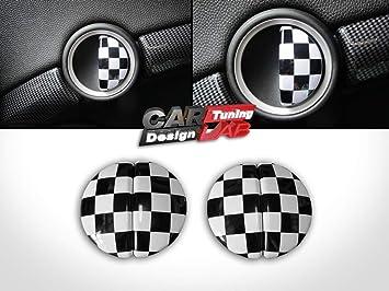 (4) Tapa de Aluminio a Cuadros para Tirador de Puerta Interior para R60: Amazon.es: Coche y moto