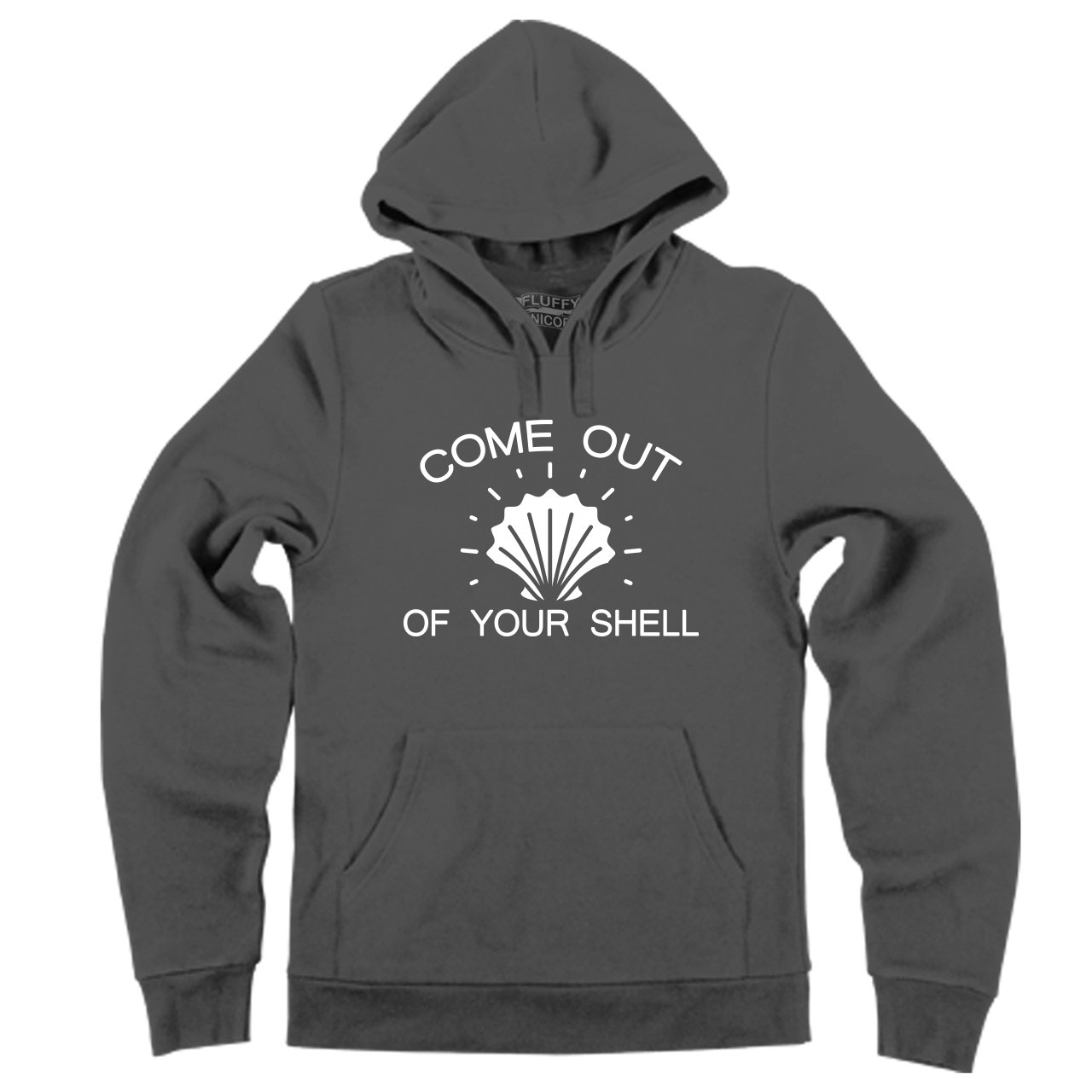 Comical Shirt Mens Come Out of Your Shell Hoodie