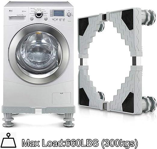 Amazon.com: Soporte ajustable para lavadora, base móvil ...