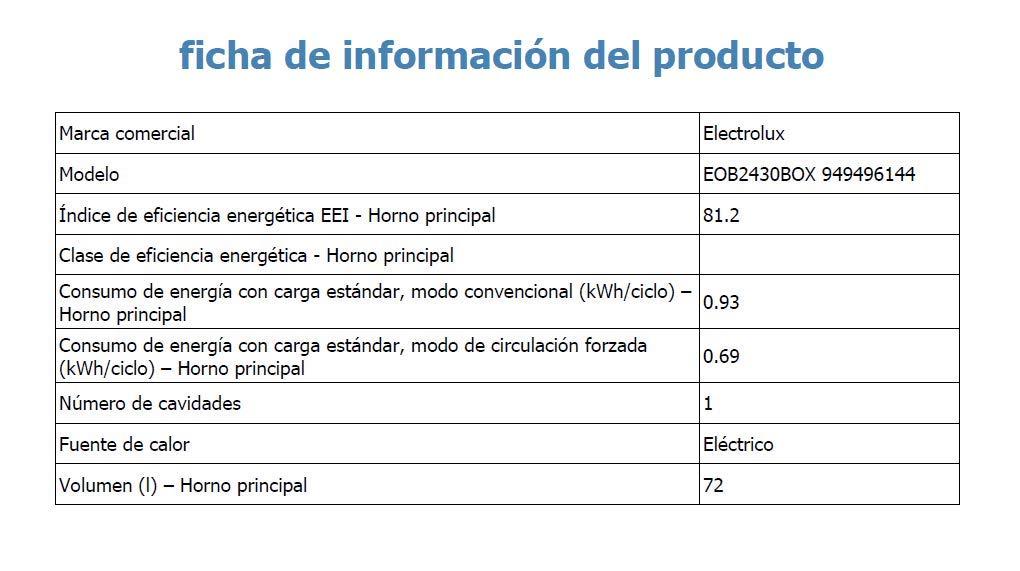 Electrolux EOB2430BOX Horno Multifunción, 2780 W, 74 litros, Acero Inoxidable: 237.16: Amazon.es: Grandes electrodomésticos