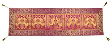 Indian Table Runner With Tassle 152 X 41 Cm