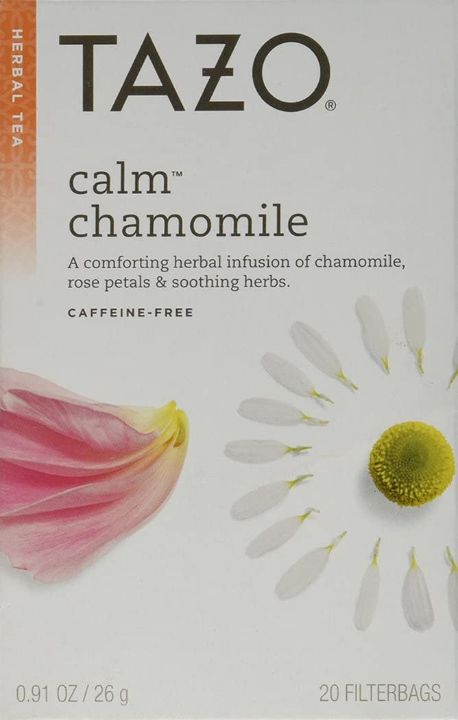 Tazo Herbal Infusion Tea-Calm Chamomile (Decaf), 20 Filter Bags