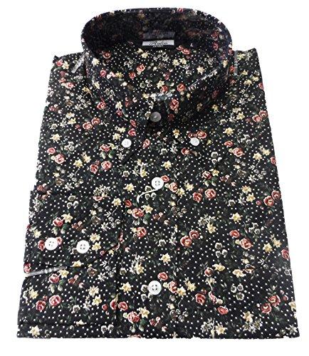 T-Shirt Noir/motif Floral moderne Men's Design Vintage classique