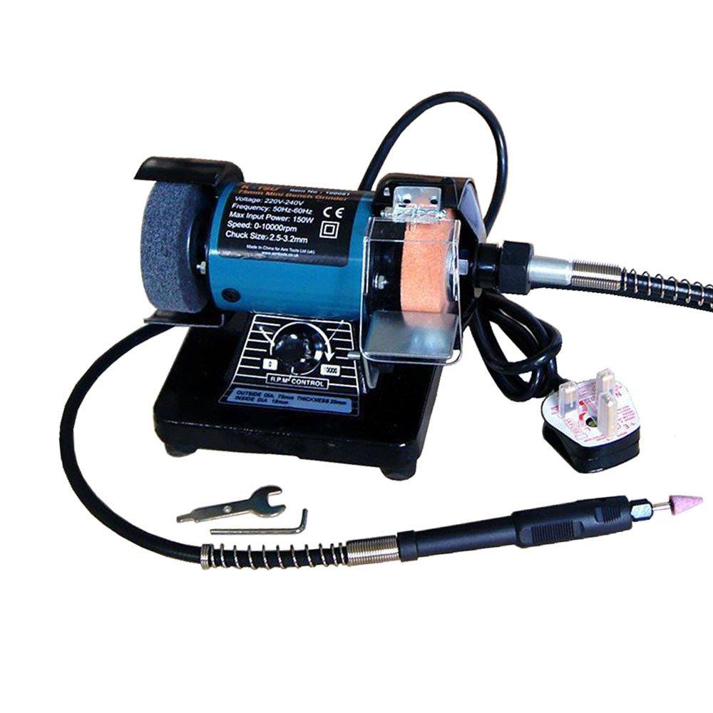 3' 70MM Multi-function Electric Bench Grinder Polisher Drilling W/ Shaft 100081 KATSU Tools