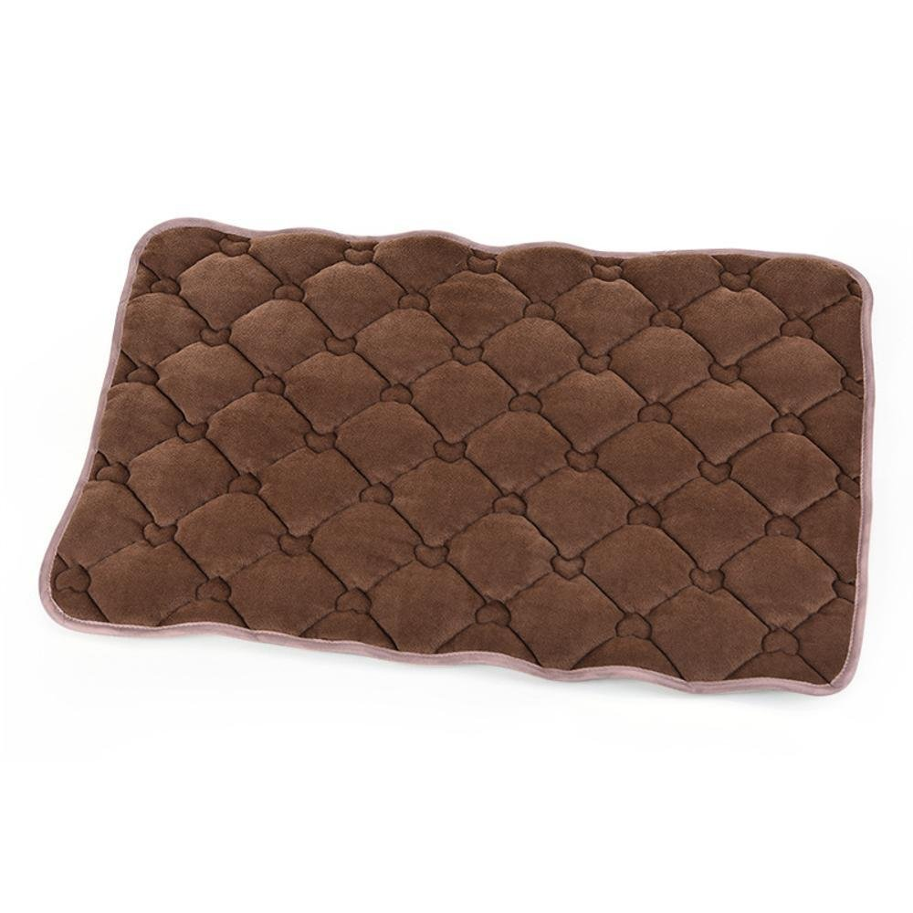 L YunYilian Pet Bolster Dog Bed Comfort Pet Mat Sofa Mat Coffee Cotton (Size   L)