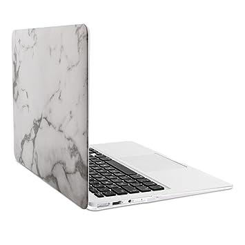 kwmobile Carcasa dura de laptop para Apple MacBook Air 13(a partir de mediados de 2011) - Diseño Mármol blanco negro - funda fina de goma