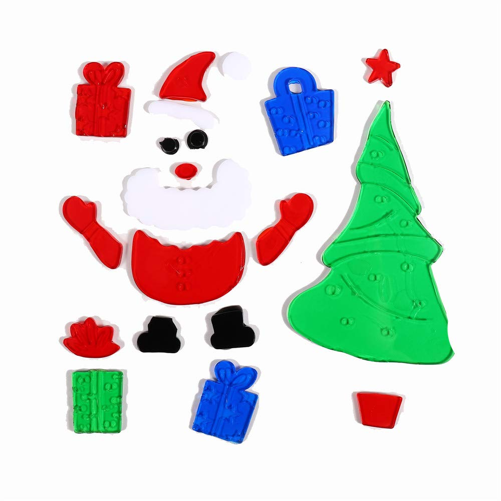 Pausseo 2019 merry christmas snowman snowflake xmas gel jelly wall window background sticker removable adornment wallpaper household room mural party decor