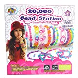 NEW CRAFT KITS Bead Necklace Making Kit - Make Your Own Bead Necklace, Bracelet & Jewelry Sets - Beading Station with Design Storage Case - DIY Arts and Crafts for Girls