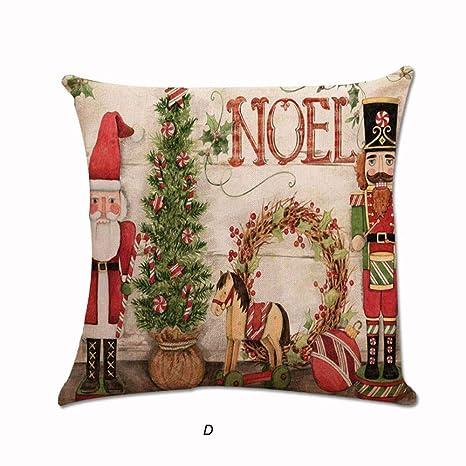 Amazon.com: 1 funda de cojín de Navidad con diseño de Papá ...