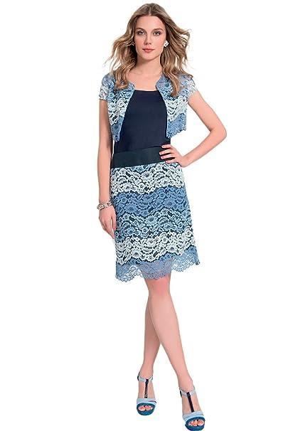 new product 1b45d 58dd2 EDAS Terranova gonna in pizzo blu: Amazon.it: Abbigliamento