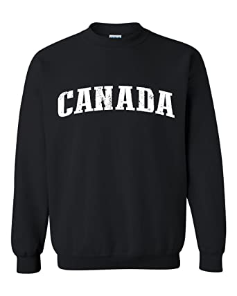 Ugo What To Do in Canada Vancouver Niagara Falls Travel Deals Canadian Map Unisex Crewneck Sweatshirt