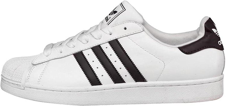 Mens Superstar II Three Stripe White