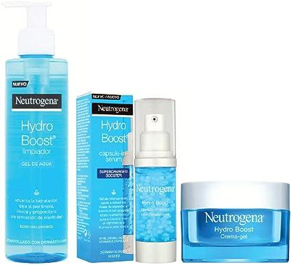 Pack Neutrogena Hydroboost - Limpiador Gel de agua + serum + crema gel: Amazon.es: Belleza
