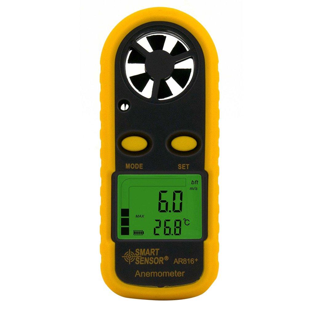 Yiruy SMART SENSOR AR816 + Anémomètre Électronique Thermomètre Poche Numérique Vent Vitesse Compteur D'air Compteur D'air Windmeter