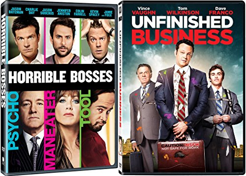 Unfinished Business & Horrible Bosses Double Feature DVD Fun Comedy movie Set Combo Double Edition
