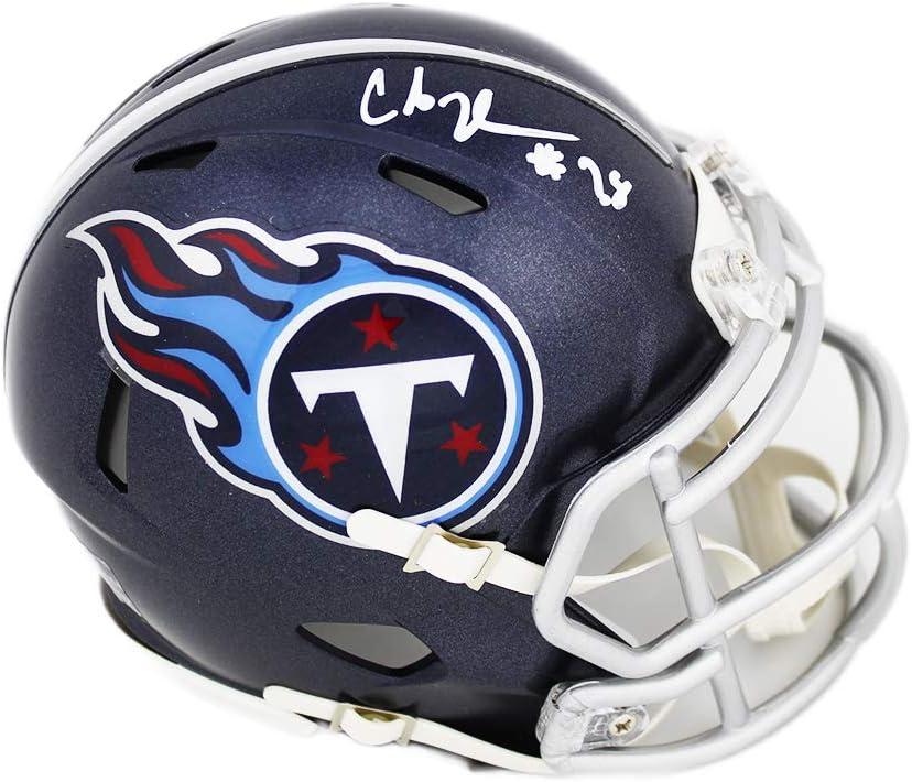 Chris Johnson Autographed Tennessee Titans Mini Helmet 2006 Yds JSA