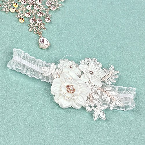 KateMelon Wedding Accessories Love Blooms Garter, ()