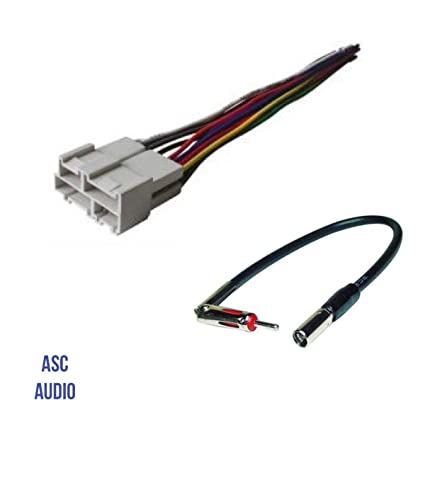 asc audio car stereo wire harness and antenna adapter to aftermarket radio  for some gm buick