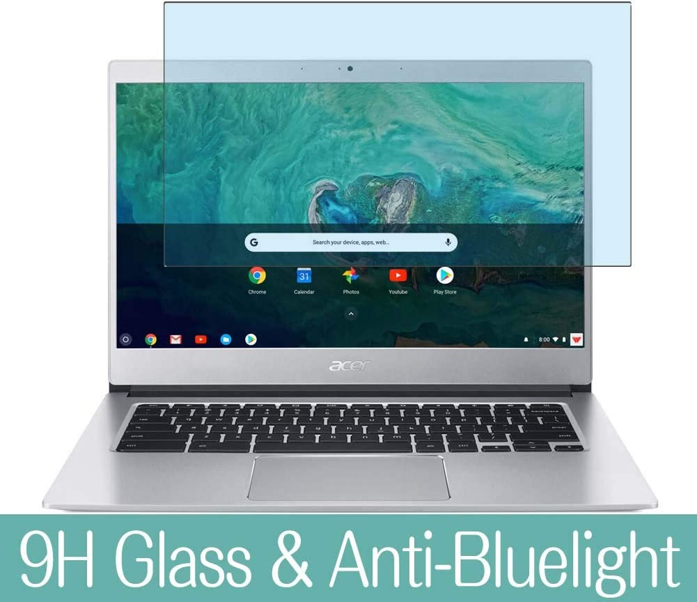 "Synvy Anti Blue Light Tempered Glass Screen Protector for Acer Chromebook 514 CB514-1H / CB514-1HT 14"" Visible Area 9H Protective Screen Film Protectors (Not Full Coverage)"