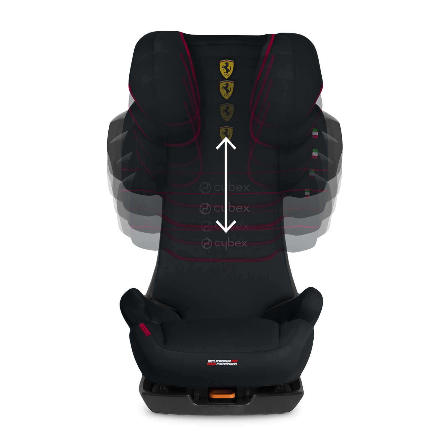 Cybex Silver Scuderia Ferrari Solution X2-Fix Childs Car Seat For Cars with and without ISOFIX 12 years Group 2//3 From approx 3 to approx 15-36 kg Victory Black