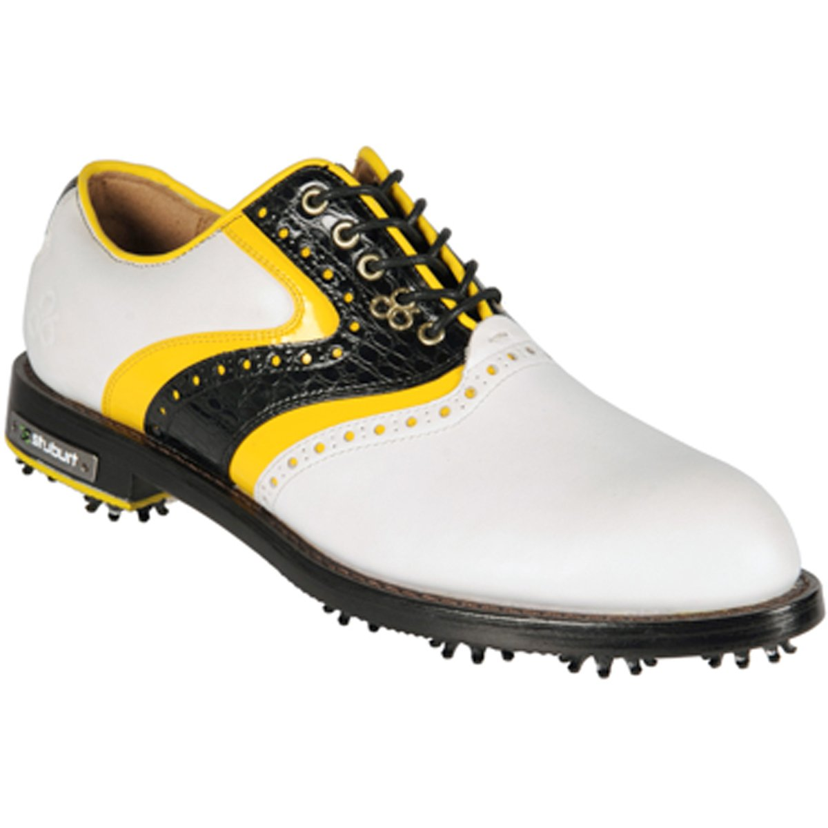 [Stuburt] メンズDCCクラシックゴルフシューズ 11 D(M) US White/black/yellow B009VIJ8Y6