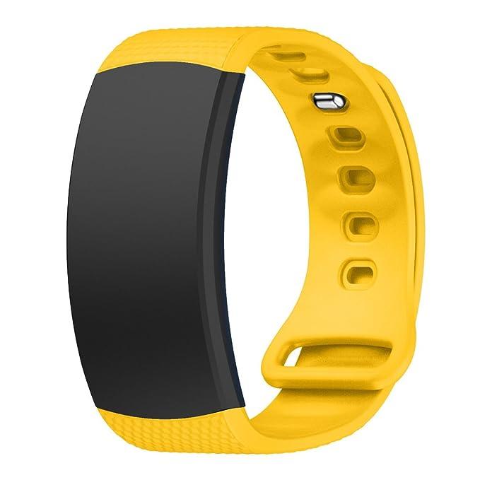Hollyfun Samsung Gear Fit2/Gear Fit2 Pro Banda de Reloj, Silicona ...