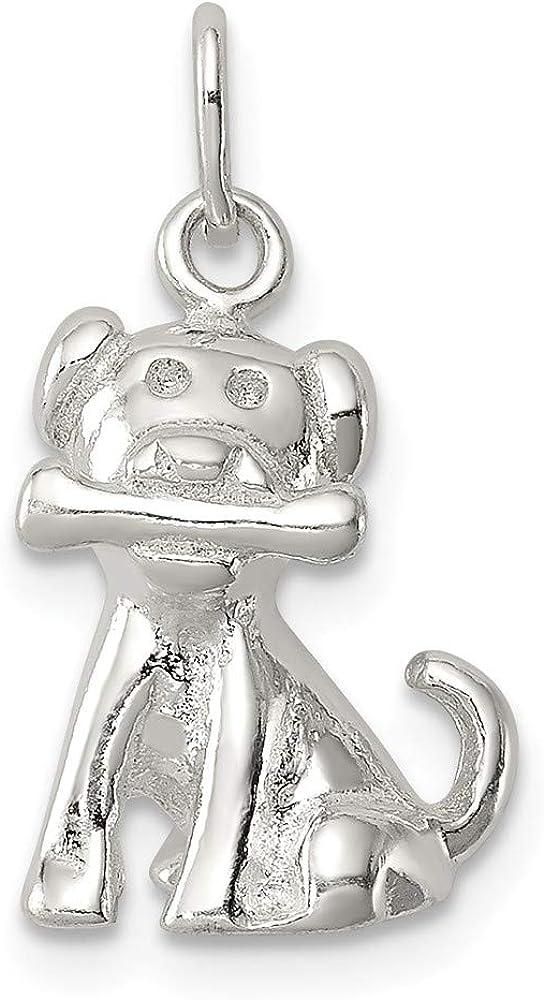 20mm x 10mm Solid 925 Sterling Silver Doggie Bone Charm Pendant