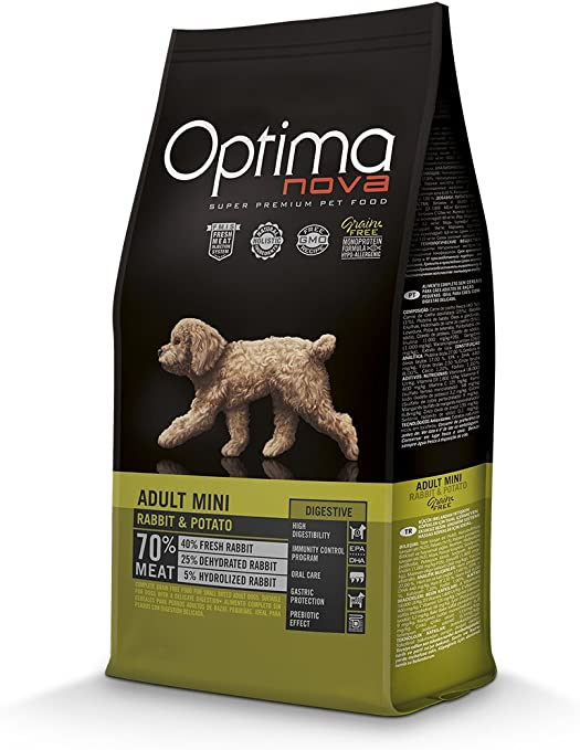 Oferta amazon: Optima nova Adult Mini Digestive Rabbit & Potato Grain Free 2000 g
