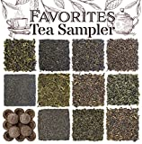 Favorites 12-Variety Loose Leaf Tea Sampler with Green, Black, Oolong,...