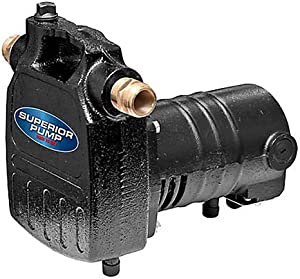 Superior Pump 90050 1/2 HP Cast Iron Transfer Pump, Black