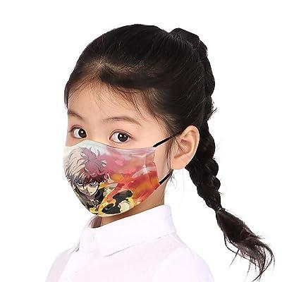 HLZG 2pcs Todoroki Shoto Cosplay Masks Anime My Hero Academia Reusable Face Mask for Children (Todoroki Shoto mask) Black: Clothing