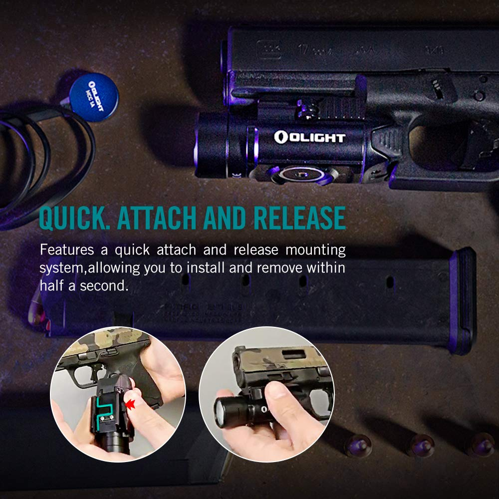 OLIGHT PL-Pro Valkyrie 1500 Lumens Cree XHP 35 HI NW Rechargeable Weaponlight Rail Mount Tactical Flashlight with Strobe (Black) by OLIGHT (Image #5)