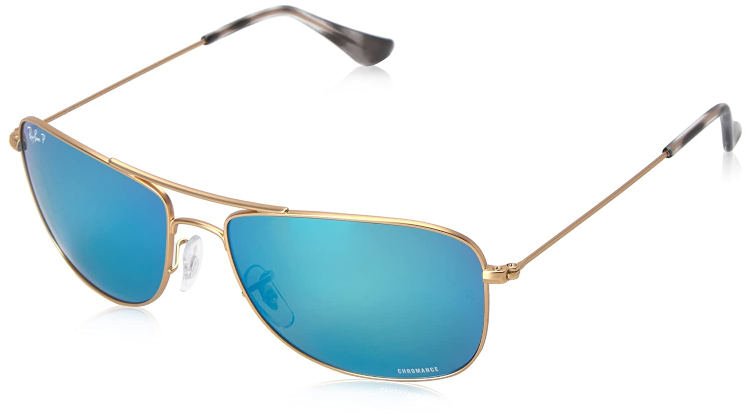 13004485c Amazon.com: Ray-Ban Men Metal Unisex Sunglass Polarized Aviator, Gold, 59 mm:  Clothing
