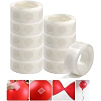 Glue Dots Points Balloons Double Sided Dots of Glue Tape for Party or Wedding Decoration (10 Rolls=1000 Dots)