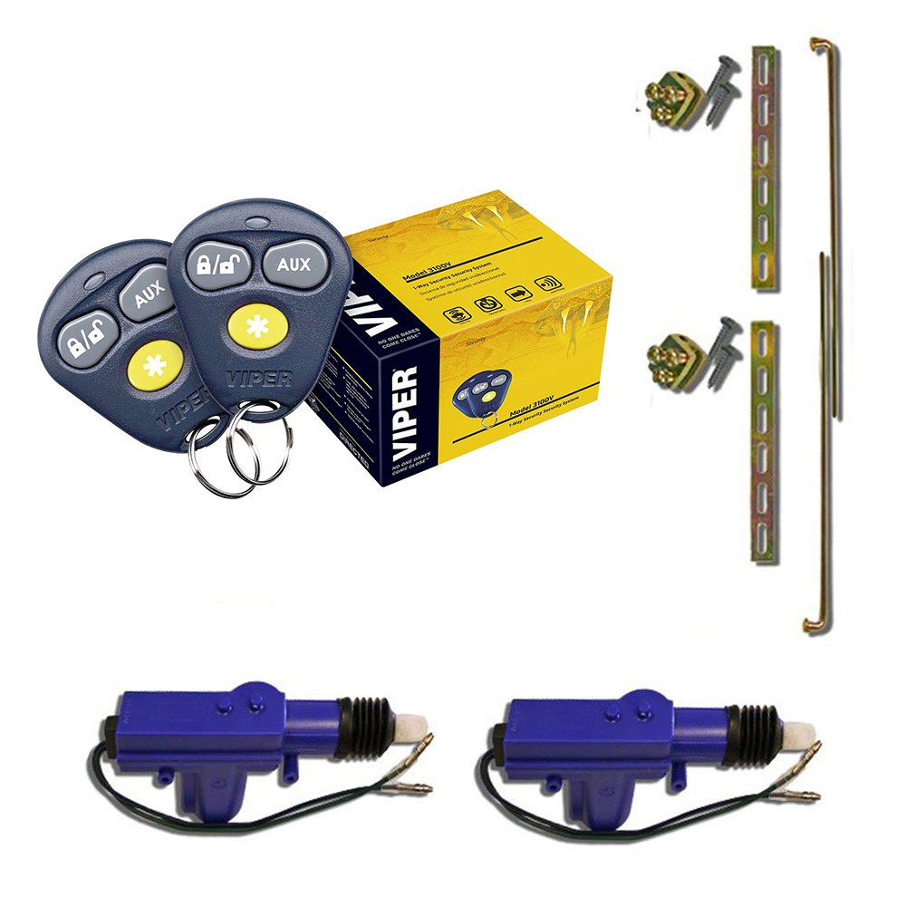 amazoncom viper 3100v 1way keyless entry car alarm security system 2 heavy duty universal 12 volt 360 degree power motor door lock actuator car